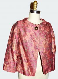 Brocade one button jacket