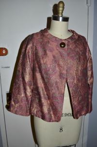 Brocade one button jacket Angle3