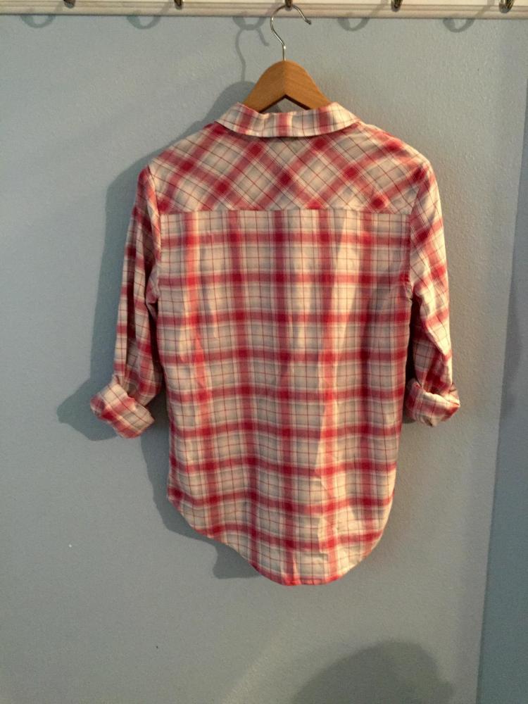 Paige Plaid button down shirt XS