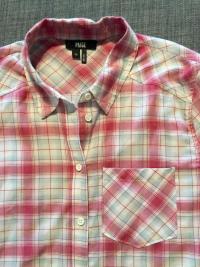 Paige Plaid button down shirt XS Angle3