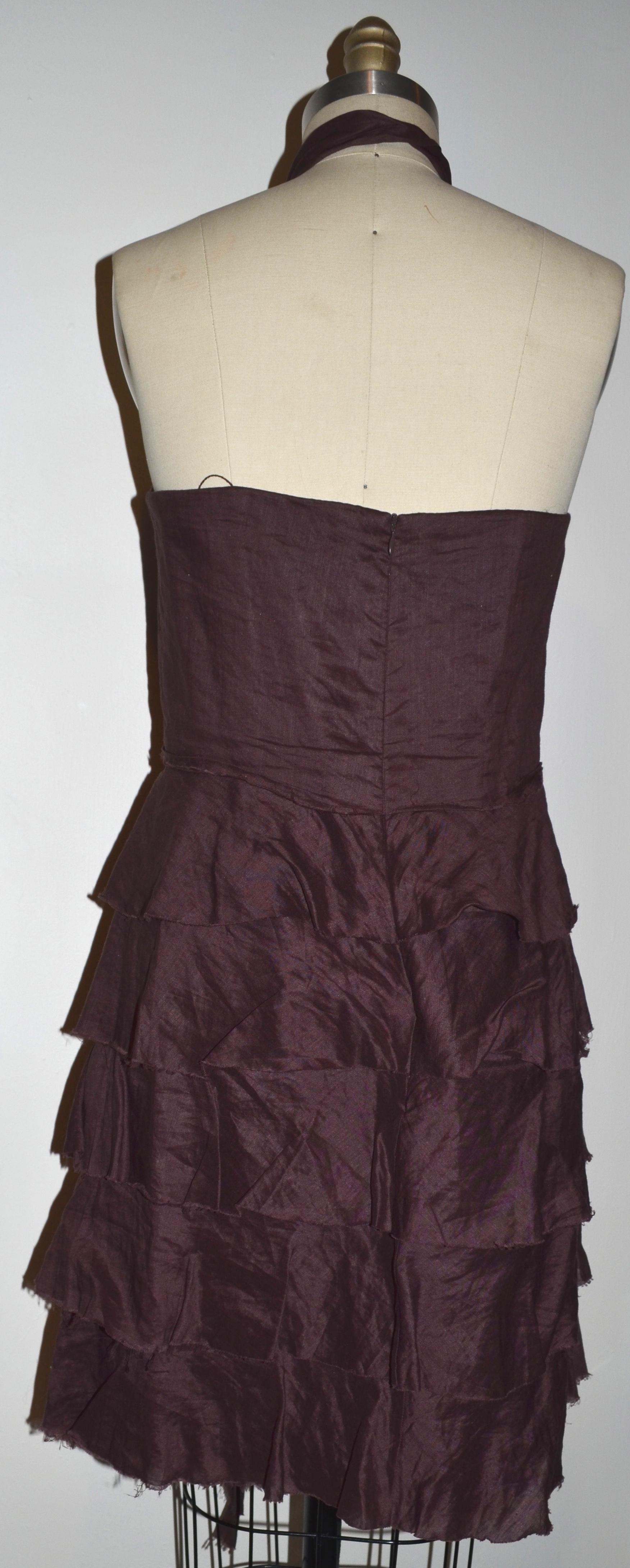 Robert Rodriguez Burgundy Dress