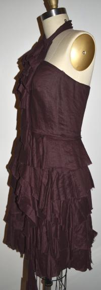 Robert Rodriguez Burgundy Dress Angle2