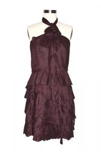 Robert Rodriguez Burgundy Dress Angle1