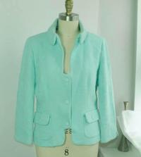 Moschino boutique teal detailed blazer