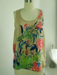 Tibi abstract flower print blouse