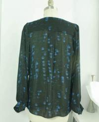 Parker blue and black silk blouse  Angle3