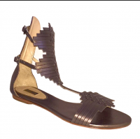 Schutz gladiator metallic sandals