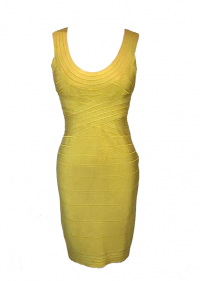 Lime Herve leger bandage dress