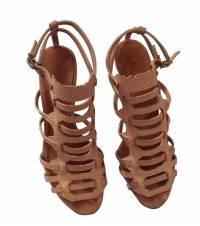 Givenchy snakeskin embossed caged sandal
