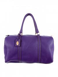 Purple Fendi leather Boston duffle bag