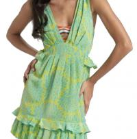 Nanette Lepore Santa Fe Hot Tamale Ruffle Dress