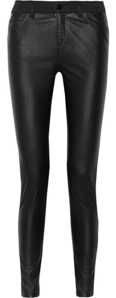 MCQ Alexander McQueen faux leather high rise jean
