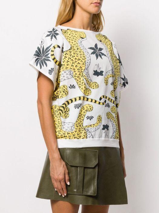 HERMÈS Leopard Printed Top