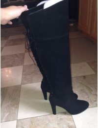 Stuart Weitzman Lacemeup Suede boots Angle4