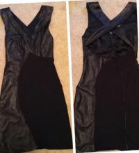 Lambskin Bodycon Racerback Mini Dress