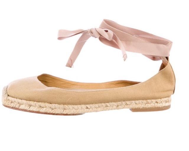 Gorgeous Louboutin Ballet style Espadrille