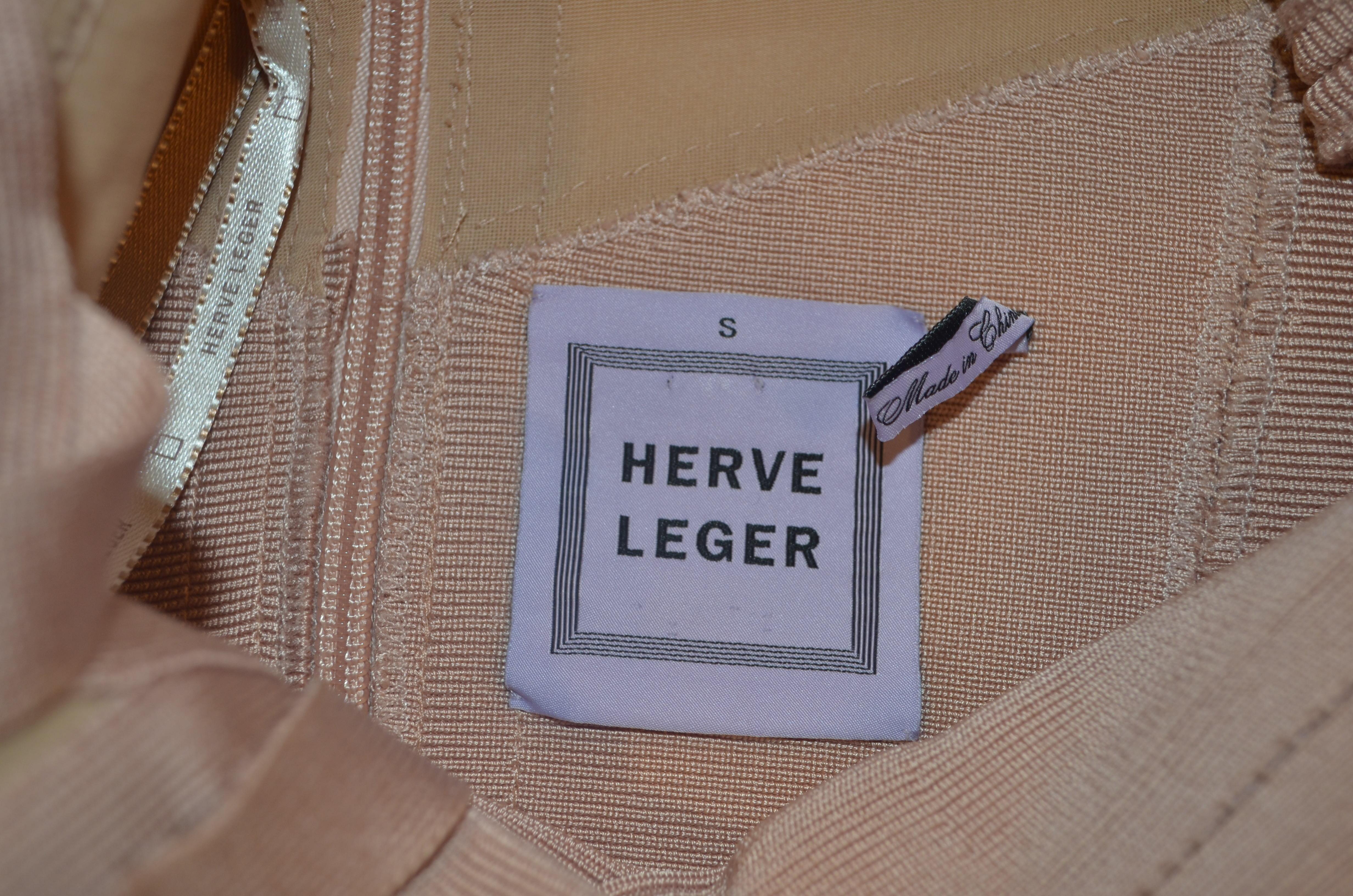 Herve Leger light peach