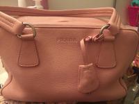 Pink leather bag Angle2