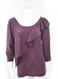 Ruffle silk see by chloe top