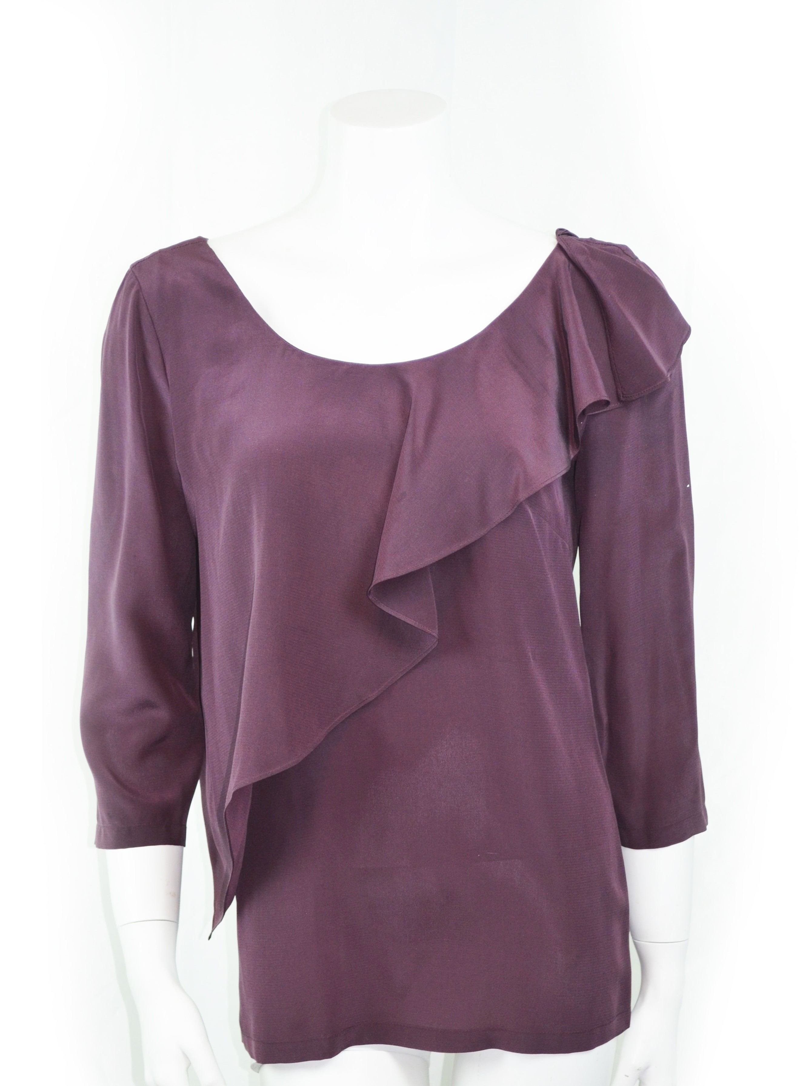 fa578131fbfa6 Ruffle silk see by chloe top