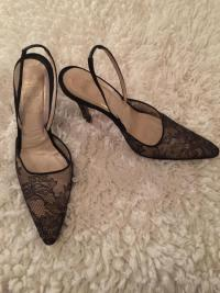 Christian Dior Chantilly Lace Mule heels