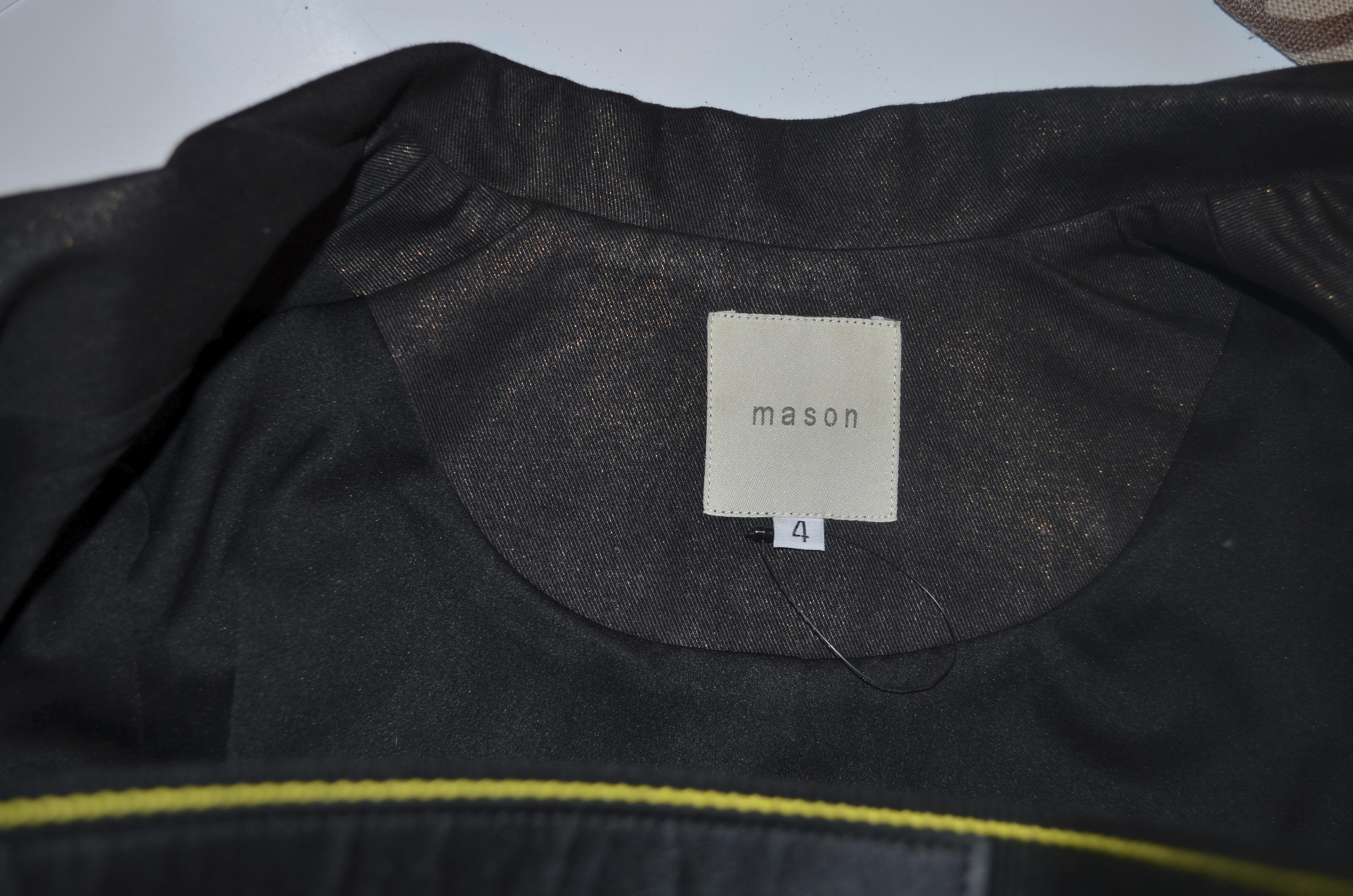 Mason jacket black w/metallic