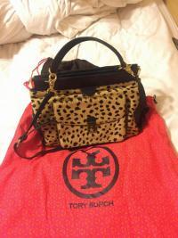 Tory Burch Calf Hair Leopard Bag