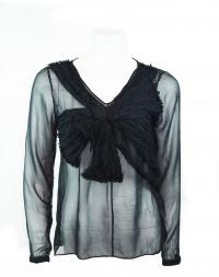 robert rodriguez silk chiffon bow blouse