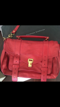 ps1 large Satchel in red
