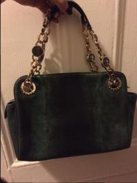 Bvlgari Leather Bag with Gold Accents Angle1