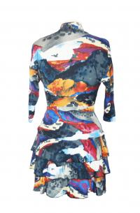 Water color wrap dress Angle2