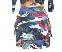 Water color wrap dress Angle3