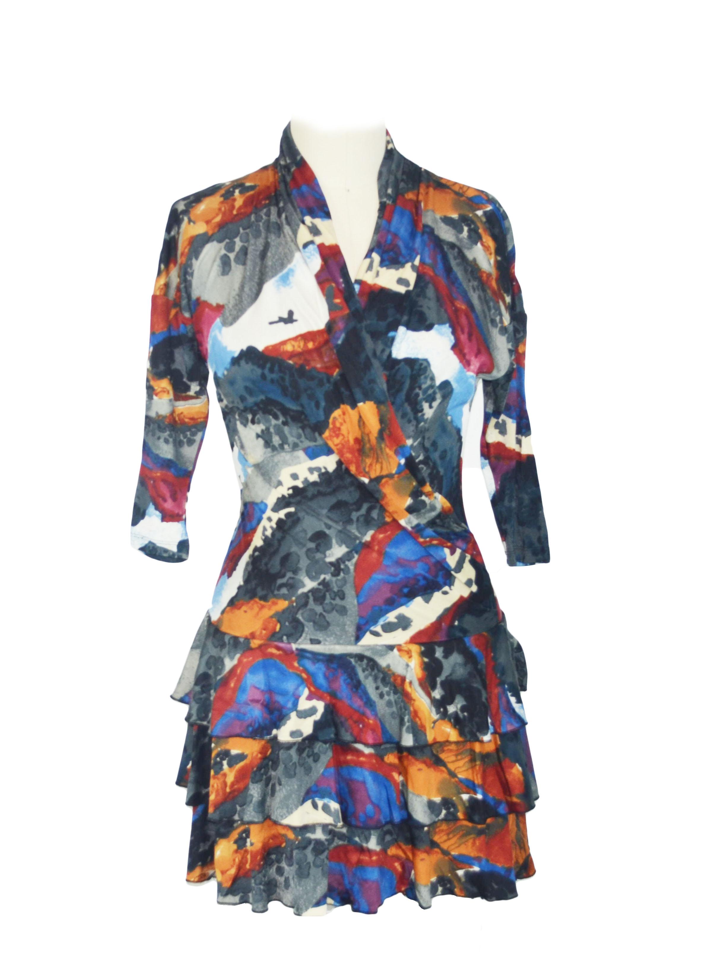 Water color wrap dress