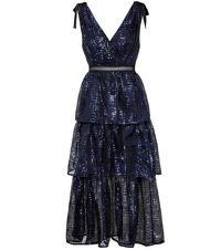 Self Portrait Blue Sequin Embroidered Dress