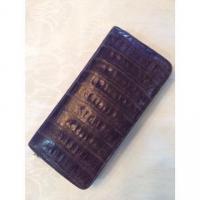 GENUINE Crocodile Zip Continental Wallet Clutch