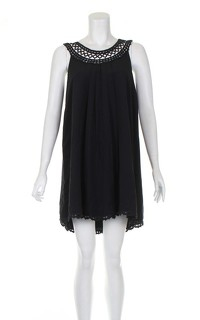 Temperley black knee length dress.