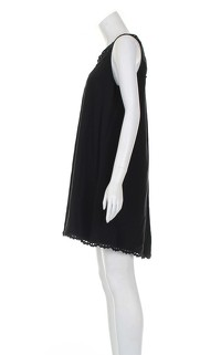 Temperley black knee length dress. Angle2
