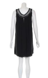 Temperley black knee length dress. Angle3