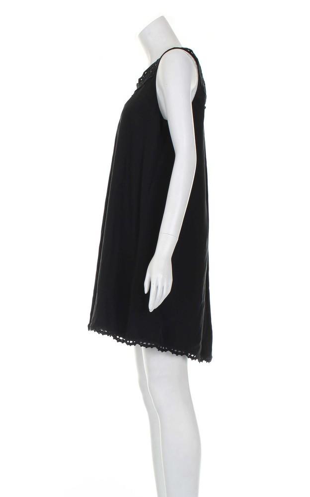 Temperley black knee length dress.