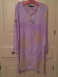 Antik Batik Silk Dress New with Tags Angle1