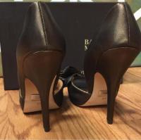 Badgley Mischka bronze bow pump Angle4