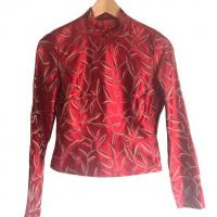 Prada Red Leaf Print Top