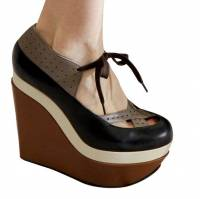 Marni color blocked wedges