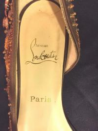 CHRISTIAN Louboutin D'Orsay flats rare - New cond Angle5