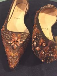 CHRISTIAN Louboutin D'Orsay flats rare - New cond Angle6