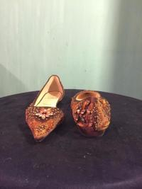 CHRISTIAN Louboutin D'Orsay flats rare - New cond Angle3