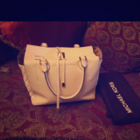 Michael Kors White Optic Large Tote