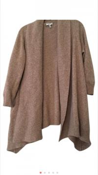 Joie Sweater Cardigan XS X Beige Oatmeal Heathered