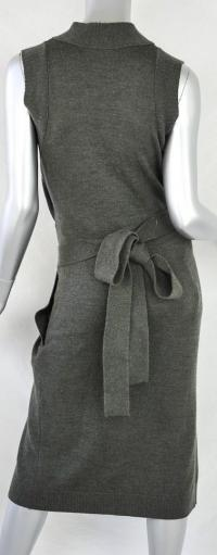 Chloe wool green wrap dress runway Angle3