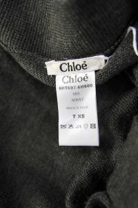 Chloe wool green wrap dress runway Angle4